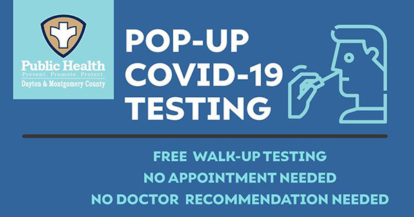 Pop-up COVID-19 testing offered in Dayton, Trotwood, Huber Heights