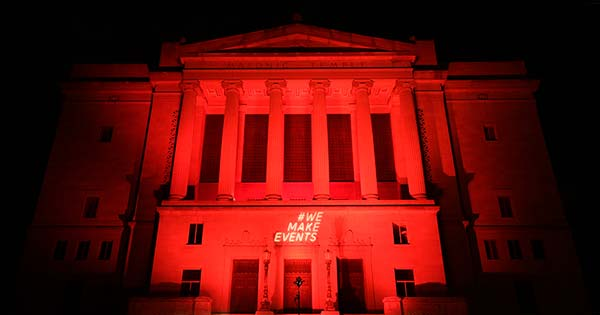 PHOTOS: Local event venues light up red