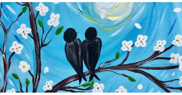 Love Birds - Dine and Paint at City BBQ