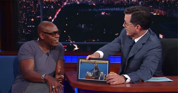 Chappelle talks to Colbert, compares Yellow Springs to The Simpsons