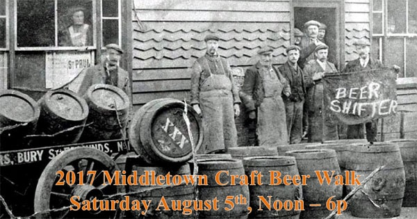Craft Beer Walk in Downtown Middletown