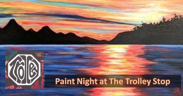 Paint Night at The Trolley Stop