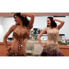 Greek dinner, belly dancers, Greek line dancing