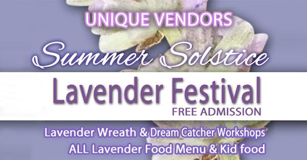 Summer Solstice Lavender Festival - canceled