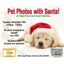 Luv4K9s Pet Photos with Santa