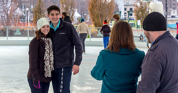 Sweetheart Skate at Riverscape