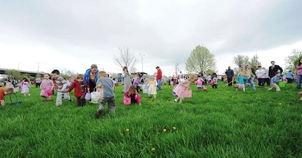 Wright-Patt AFB & Fairborn Chamber Community Easter Egg Hunt