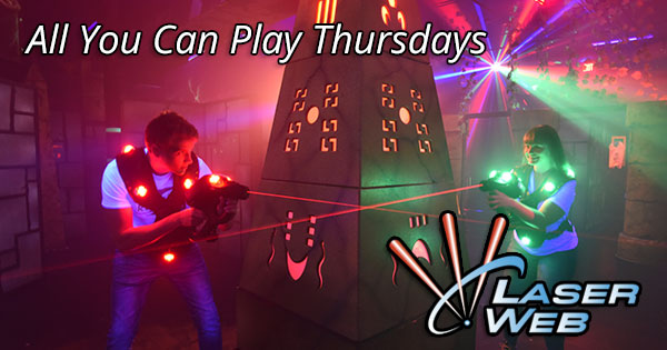 All You Can Play Thursdays at Laser Web