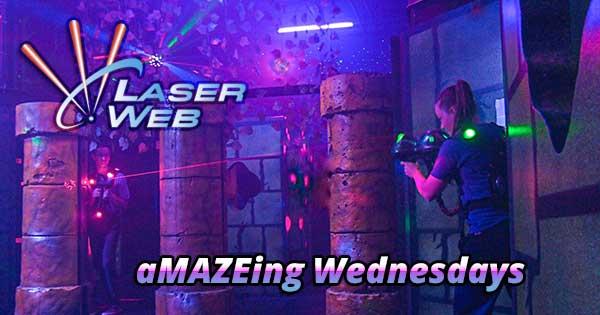 aMAZEing Wednesdays at Laser Web Dayton