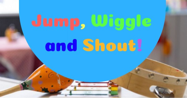 Jump, Wiggle and Shout - suspended