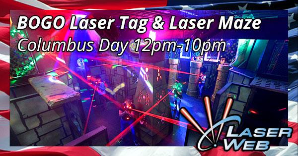 Columbus Day BOGO Laser Tag & Laser Maze