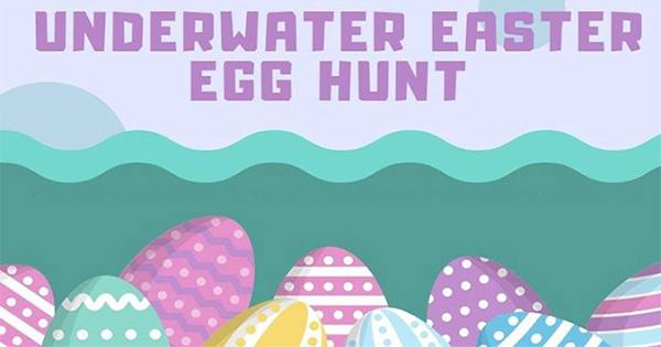 Underwater easter egg hunt - Vandalia rec center swimming pool ...