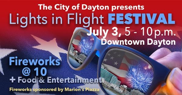 City of Dayton Lights in Flight Fireworks Festival - canceled