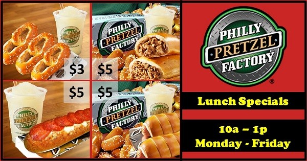 Philly Pretzel Factory Weekday Lunch Specials