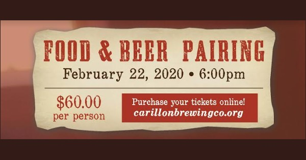 Food & Craft Beer Dinner Pairing at Carillon Brewing Co.