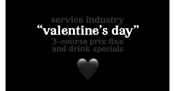Lily's Bistro Service Industry Valentine's Day