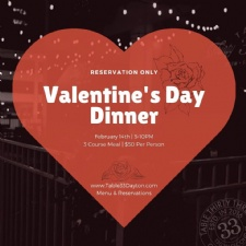 Valentine's Day Dinner at Table 33