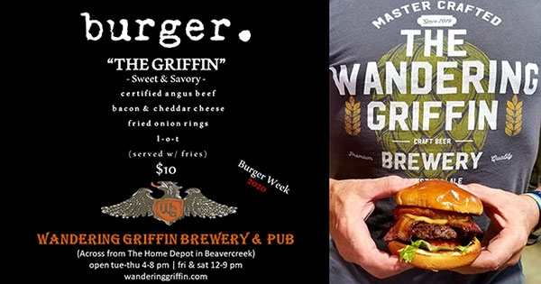 Burger Week at The Wandering Griffin