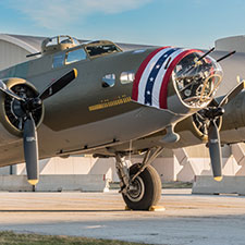 B-17F Memphis Belle on display in Dayton