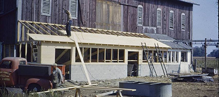 Young's Dairy construction