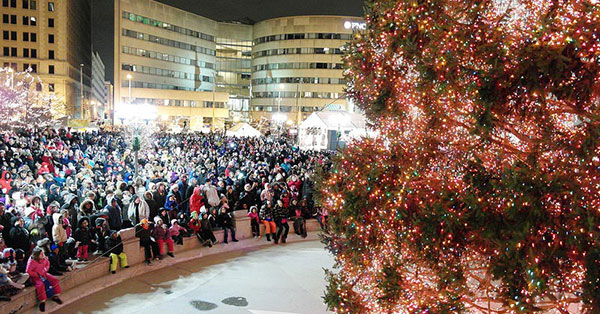Christmas Tree Lightings around Dayton