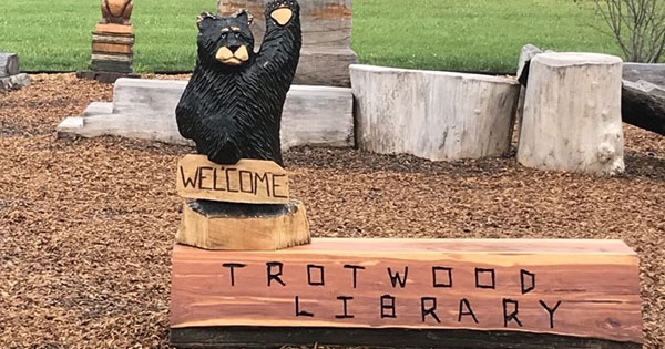 Trotwood library creates outdoor nature play area from tornado damaged trees