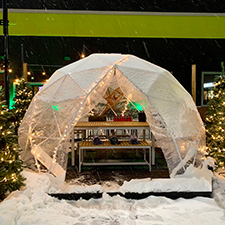 Igloo-Style Dining in Beavercreek!
