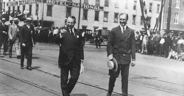 100 years today, Gov. Cox and FDR led parade in downtown Dayton