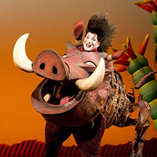 5000 reasons to love The Lion King Actor Ben Lipitz as Pumbaa