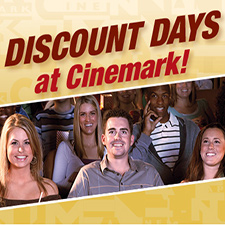 Movie Discount Days at Cinemark - The Greene - suspended